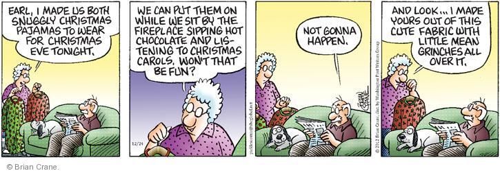 Comic Strip Brian Crane  Pickles 2012-12-24 Christmas gift