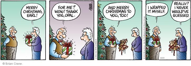 Comic Strip Brian Crane  Pickles 2012-12-25 not listening