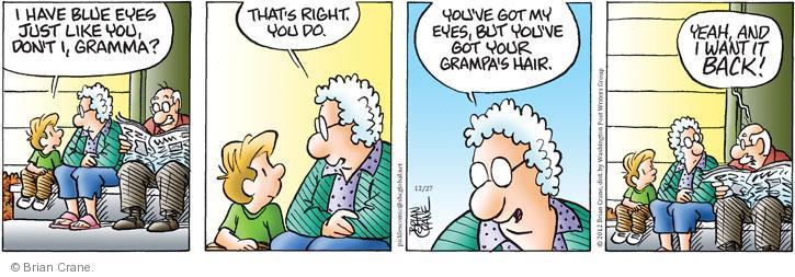 Comic Strip Brian Crane  Pickles 2012-12-27 hair