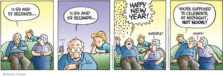 Comic Strip Brian Crane  Pickles 2012-12-31 kiss