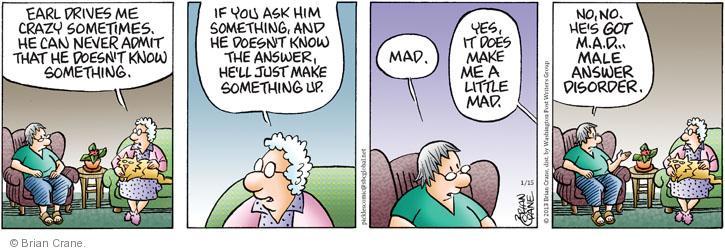 Comic Strip Brian Crane  Pickles 2013-01-15 admit