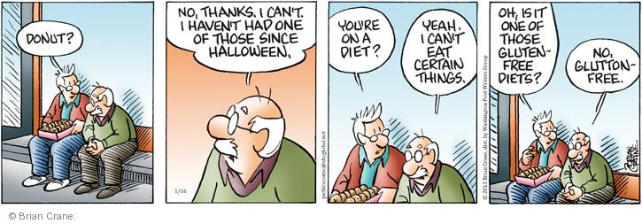 Comic Strip Brian Crane  Pickles 2013-01-16 gluten