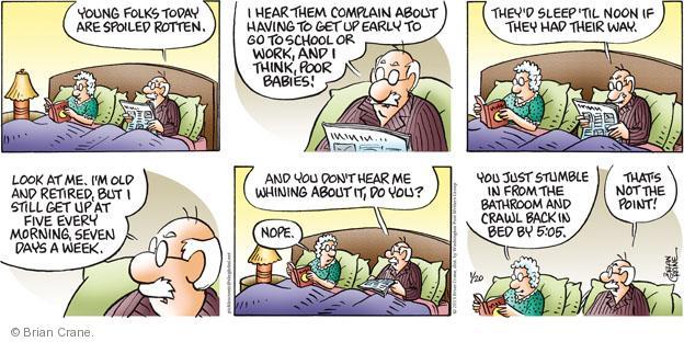 Comic Strip Brian Crane  Pickles 2013-01-20 hear