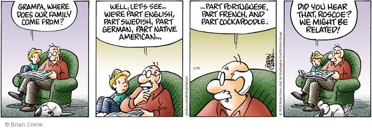 Comic Strip Brian Crane  Pickles 2013-01-30 hear