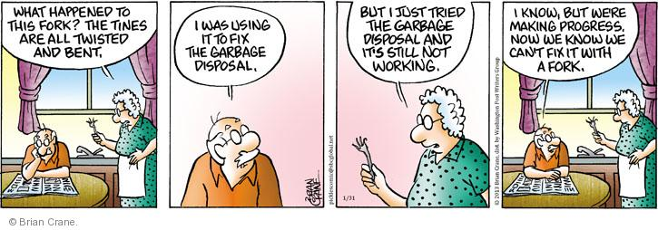 Comic Strip Brian Crane  Pickles 2013-01-31 utensil