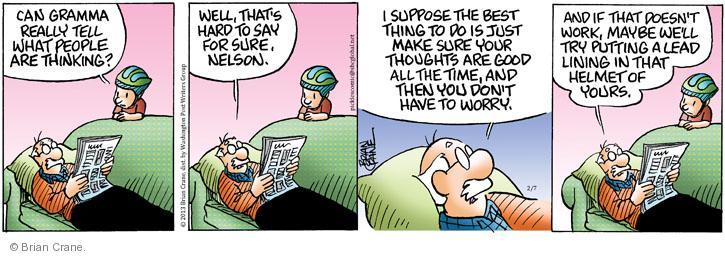 Comic Strip Brian Crane  Pickles 2013-02-07 good thought