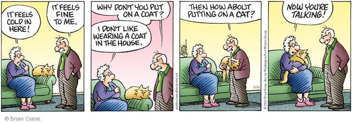 Comic Strip Brian Crane  Pickles 2013-02-11 coat