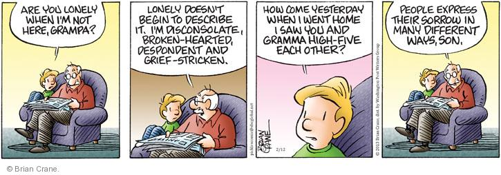 Comic Strip Brian Crane  Pickles 2013-02-12 grief