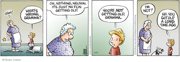 Comic Strip Brian Crane  Pickles 2013-02-22 get old