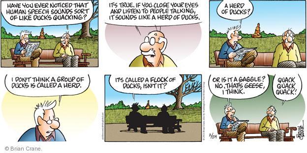 Cartoonist Brian Crane  Pickles 2013-02-24 herd