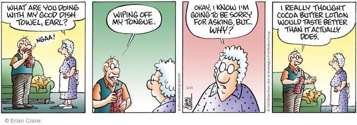 Comic Strip Brian Crane  Pickles 2013-02-25 flavor