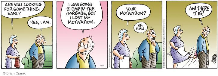 Comic Strip Brian Crane  Pickles 2013-02-27 motivate