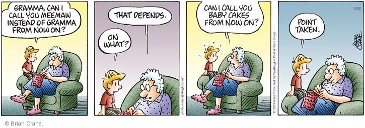 Comic Strip Brian Crane  Pickles 2013-03-12 grandparent