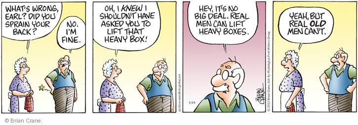 Comic Strip Brian Crane  Pickles 2013-03-14 ache