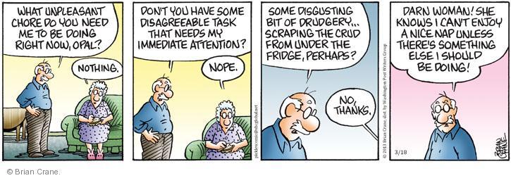 Cartoonist Brian Crane  Pickles 2013-03-18 enjoy