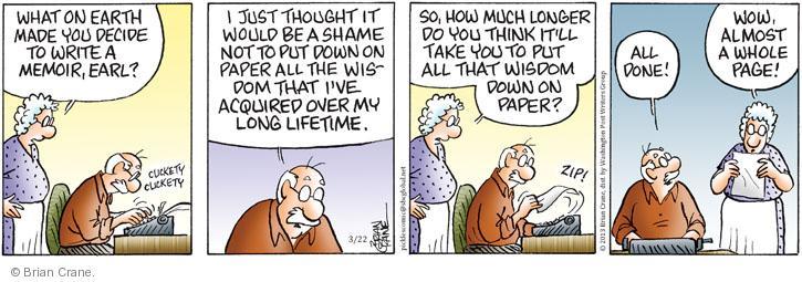 Comic Strip Brian Crane  Pickles 2013-03-22 author