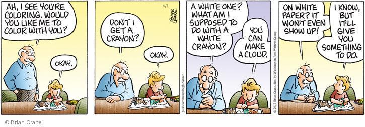 Comic Strip Brian Crane  Pickles 2013-04-01 one