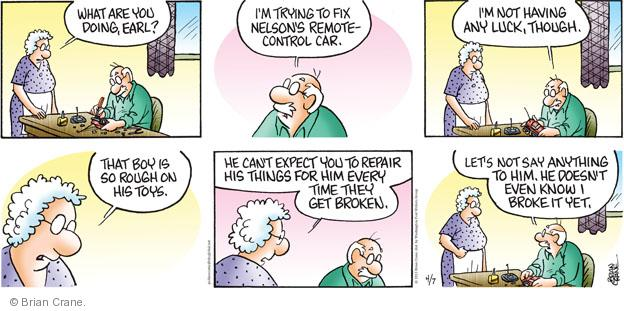 Comic Strip Brian Crane  Pickles 2013-04-07 toy