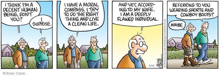 Comic Strip Brian Crane  Pickles 2013-04-10 cowboy