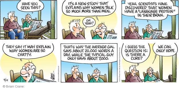 Comic Strip Brian Crane  Pickles 2013-04-14 communicate