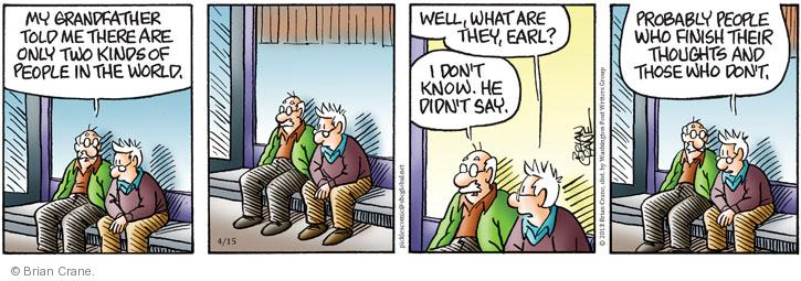 Comic Strip Brian Crane  Pickles 2013-04-15 advice