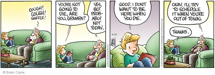 Comic Strip Brian Crane  Pickles 2013-04-20 grandparent