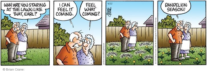 Comic Strip Brian Crane  Pickles 2013-04-22 spring
