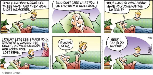 Comic Strip Brian Crane  Pickles 2013-04-28 relationship