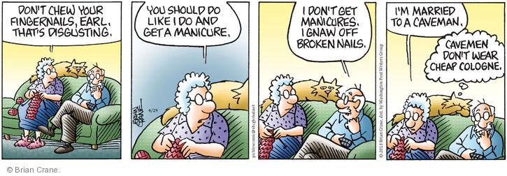 Comic Strip Brian Crane  Pickles 2013-04-29 manicure