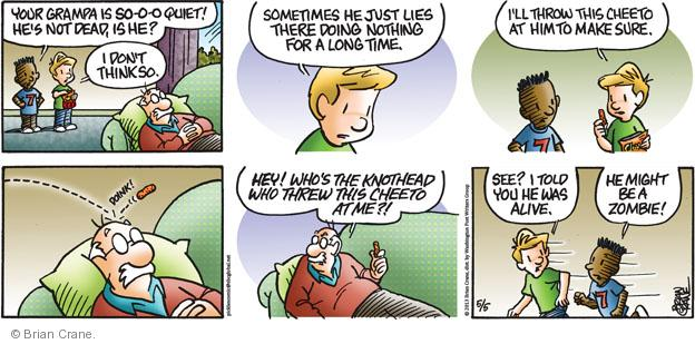 Comic Strip Brian Crane  Pickles 2013-05-05 alive