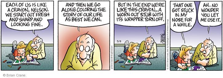 Comic Strip Brian Crane  Pickles 2013-05-08 metaphor