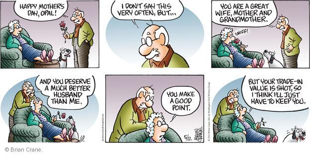 Comic Strip Brian Crane  Pickles 2013-05-12 good day