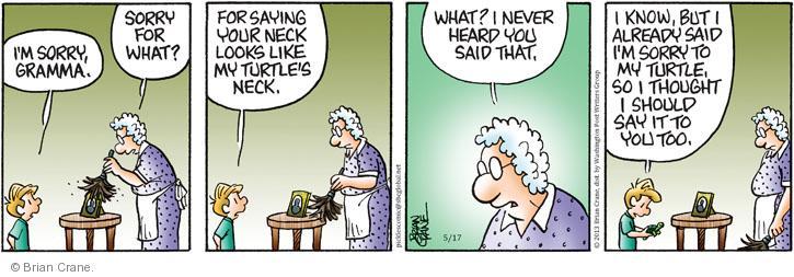Comic Strip Brian Crane  Pickles 2013-05-17 hear