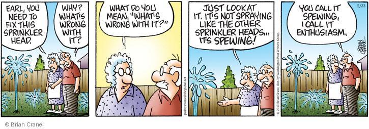 Comic Strip Brian Crane  Pickles 2013-05-23 describe