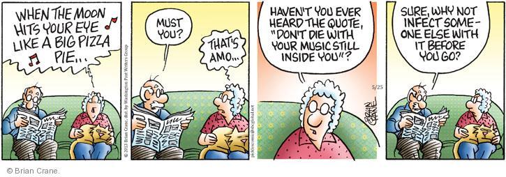 Comic Strip Brian Crane  Pickles 2013-05-25 hear