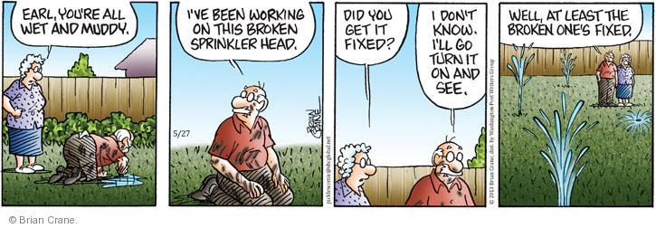 Comic Strip Brian Crane  Pickles 2013-05-27 one
