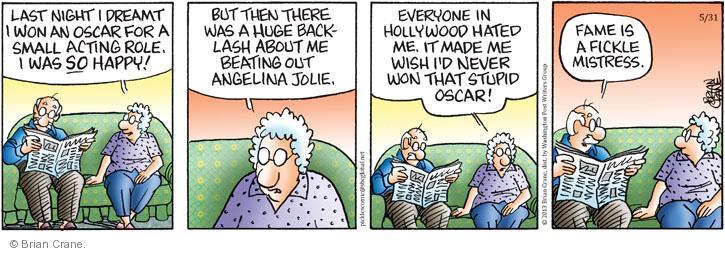 Comic Strip Brian Crane  Pickles 2013-05-31 dream