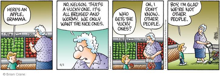 Cartoonist Brian Crane  Pickles 2013-06-01 yuck