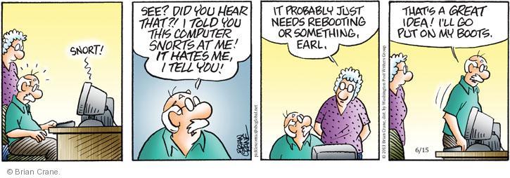 Comic Strip Brian Crane  Pickles 2013-06-15 hear