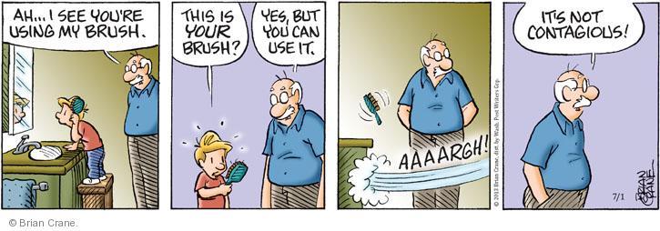Comic Strip Brian Crane  Pickles 2013-07-01 hair loss