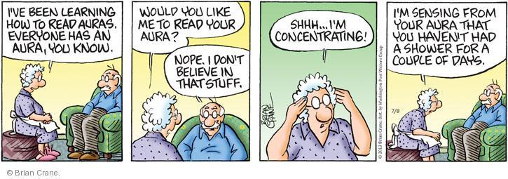 Comic Strip Brian Crane  Pickles 2013-07-08 shower