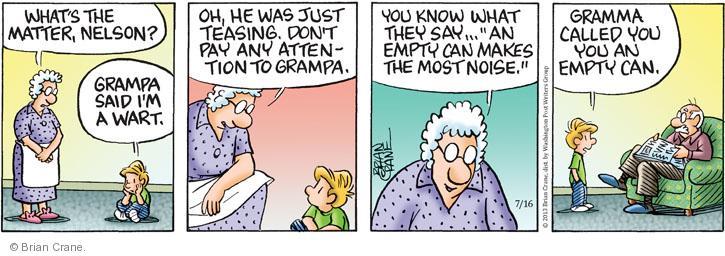 Comic Strip Brian Crane  Pickles 2013-07-16 tease