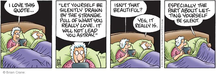 Comic Strip Brian Crane  Pickles 2013-07-18 strange