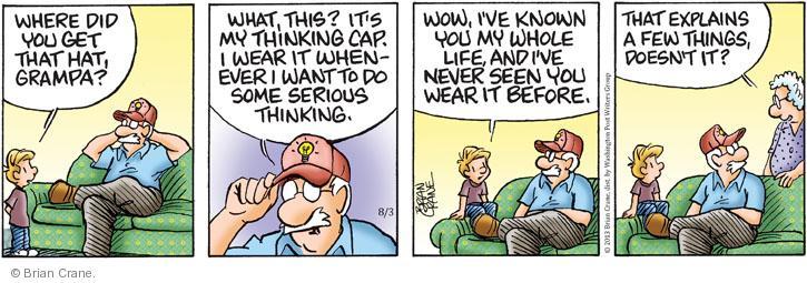 Comic Strip Brian Crane  Pickles 2013-08-03 cap