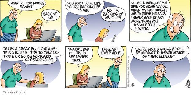 Comic Strip Brian Crane  Pickles 2013-08-04 teach