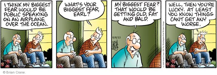 Comic Strip Brian Crane  Pickles 2013-08-08 get old