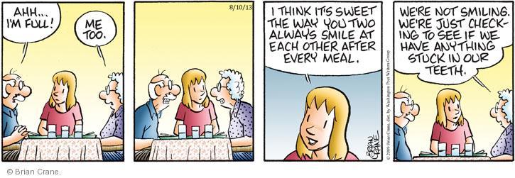 Comic Strip Brian Crane  Pickles 2013-08-10 too