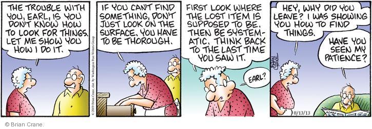 Comic Strip Brian Crane  Pickles 2013-08-13 lose
