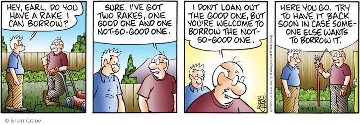 Comic Strip Brian Crane  Pickles 2013-08-14 yard work