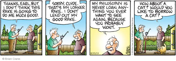 Comic Strip Brian Crane  Pickles 2013-08-15 tool
